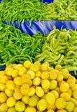 Zitronen und Paprika Lizenzfreies Stockbild