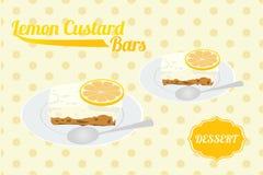 Zitronen-Vanillepudding-Stange Stockbilder