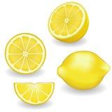 Zitronen, vier Ansichten Stockfoto