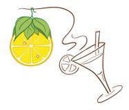 Zitronen-Weihnachtsdekoration Lizenzfreie Stockbilder