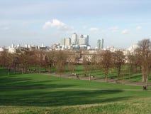 Zitronengelbe Kaiansicht von Greenwich Stockbilder