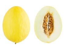 Zitronengelbe Melone Stockbild