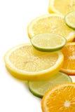 Zitronengelber Allsortskalk, Zitrone, Tangerine Lizenzfreies Stockfoto