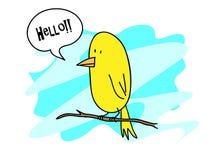 Zitronengelber Vogel Stockbild