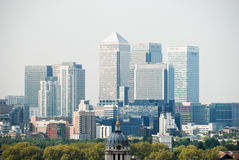 Zitronengelbes Kai-Geschäftsgebiet in London Lizenzfreies Stockbild