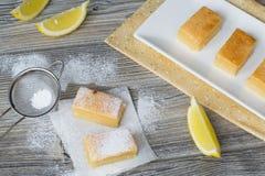 Zitronenkuchen Stockbilder