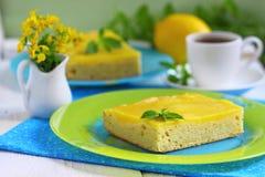 Zitronenkuchen Lizenzfreie Stockbilder