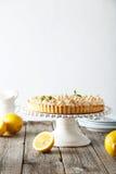 Zitronenmeringetorte Stockfotografie