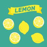 Zitronenmuster-Illustrationsvektor Zitronenhintergrundzusammenfassung YE Stockfoto
