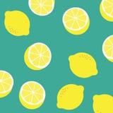 Zitronenmuster-Illustrationsvektor Zitronenhintergrundzusammenfassung YE Stockbild