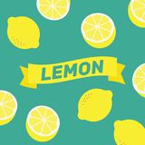 Zitronenmuster-Illustrationsvektor Zitronenhintergrundzusammenfassung YE Stockfotos