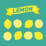 Zitronenmuster-Illustrationsvektor Zitronenhintergrundzusammenfassung YE Stockbilder