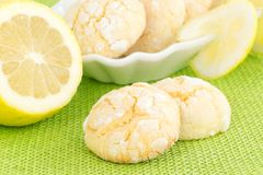 Zitronenplätzchen Lizenzfreies Stockfoto