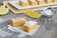 Zitronenstangen - traditionelle amerikanische Bonbons Stockfotografie