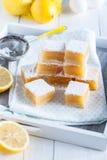 Zitronentörtchen Stockfotos