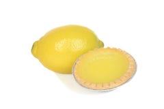 Zitronentörtchen mit Frucht Lizenzfreies Stockfoto