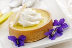 Zitronentörtchennachtisch Stockbild