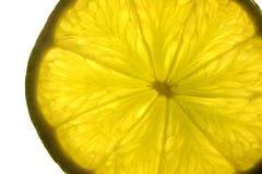 Zitronescheibe, Kalk Lizenzfreie Stockbilder
