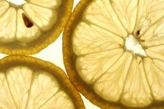 Zitronesegmente Stockfoto