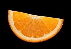 Zitrusfrucht auf Schwarzem Lizenzfreies Stockbild