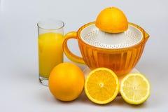 Zitrusfrucht Juicer auf einem weißen Hintergrund Stockfoto