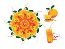 Zitrusfrucht-Mandala Lizenzfreies Stockfoto