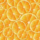 Zitrusfrucht-nahtloses Muster Nahtloses Muster von Orangenscheiben Mit Beschneidungspfad Stockbild