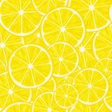 Zitrusfrucht-nahtloses Muster Nahtloses Muster von Zitronenscheiben Mit Beschneidungspfad Stockbilder