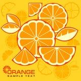 Zitrusfrucht schneidet Hintergrund Lizenzfreies Stockbild
