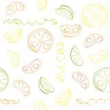 Zitrusfrucht schneidet nahtloses Muster lizenzfreie abbildung