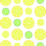 Zitrusfrucht schneidet nahtloses Vektormuster Stockbild