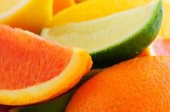 Zitrusfruchtkeile stockfotos