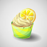 Zitrusfruchtkleiner kuchen Lizenzfreie Stockfotos