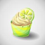 Zitrusfruchtkleiner kuchen Stockfoto