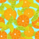 Zitrusfruchtmuster Nahtloser Hintergrund Lizenzfreies Stockfoto