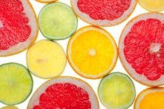 Zitrusfruchtnahrungsmittelhintergrund Lizenzfreie Stockbilder