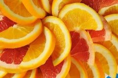 Zitrusfruchtscheiben. stockbild