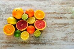 Zitrusfruchtstillleben Stockfoto