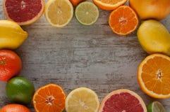 Zitrusfruchtstillleben Lizenzfreie Stockfotos