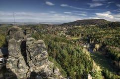 Zittau Mountains Nature Park Royalty Free Stock Image