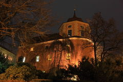 Zittau at night Royalty Free Stock Photography