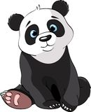 Zittende Leuke Panda vector illustratie