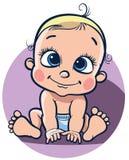 Zittende vrolijke baby Royalty-vrije Stock Foto