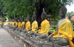 Zitting Buddhas Royalty-vrije Stock Afbeelding