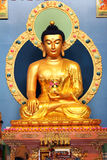 Zitting gouden Boedha in nea van datsanerinpoche Bagsha Royalty-vrije Stock Fotografie