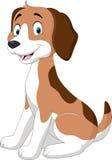 Zitting van de beeldverhaal de grappige hond Royalty-vrije Stock Afbeelding