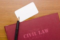 Zivilrecht Lizenzfreies Stockbild