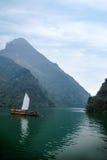 Zixi för kedja för Hubei Badong Yangtze River Wu klyftamun segling Arkivbilder
