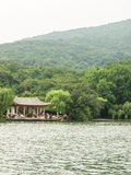 Zixia lake. Violet xiahu in Ming Xiaoling mausoleum, the North-East, is hidden in the hills the wooded hills of artificial lakes, violet xiadong is connected to Stock Photos
