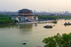 The Ziyunlou building landscape xian Stock Photography